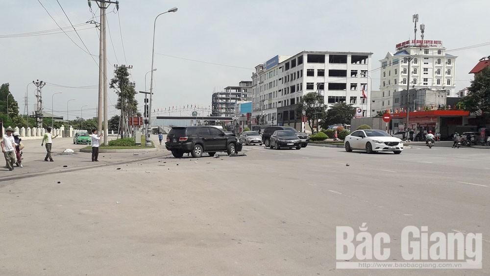 Tai nạn giao thông, xe biển xanh, TP Bắc Giang, Tai nạn giao thông liên hoàn