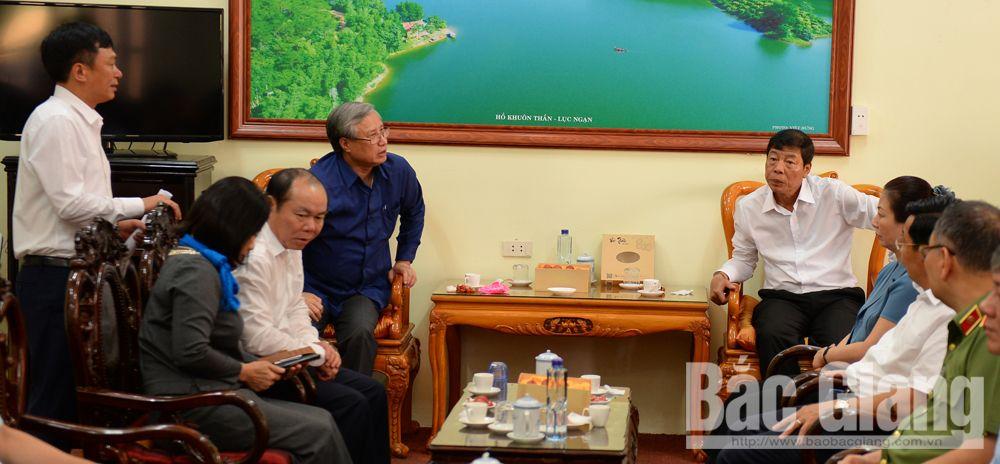 Lục Ngạn, đồng chí Trần Quốc Vượng, Bắc Giang, Ủy viên Bộ Chính trị, tỉnh Bắc Giang, Thường trực Ban Bí thư
