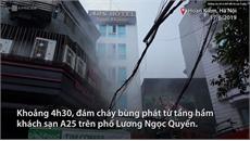 Cháy khách sạn 6 tầng trên khu phố cổ Hà Nội