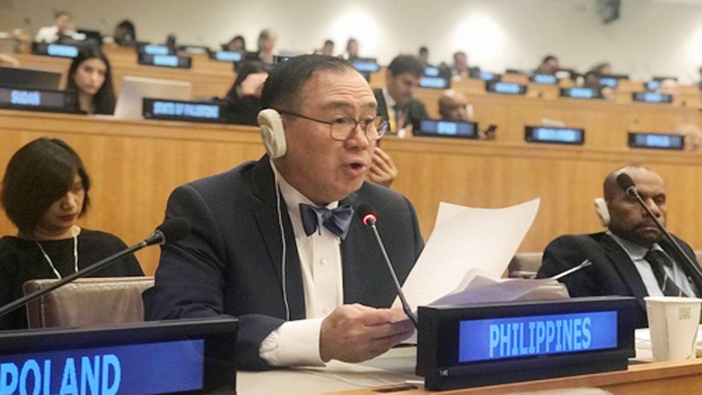 Ngoại trưởng Philippines, cảm ơn Việt Nam, Liên Hợp Quốc