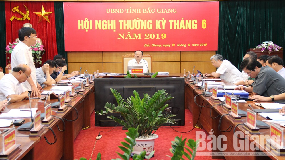 UBND tỉnh Bắc Giang, UBND tỉnh Bắc Giang họp thường kỳ tháng 6, Phó Chủ tịch Thường trực UBND tỉnh Lại Thanh Sơn