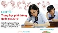 Lịch thi Trung học phổ thông quốc gia 2019