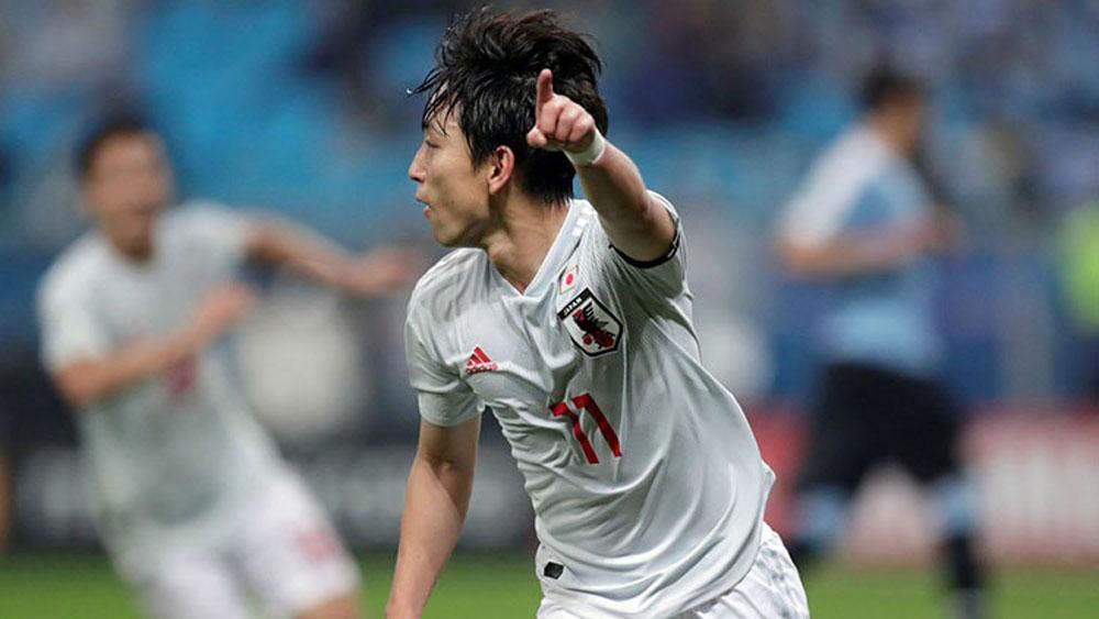 Nhật Bản đánh rơi chiến thắng trước Uruguay
