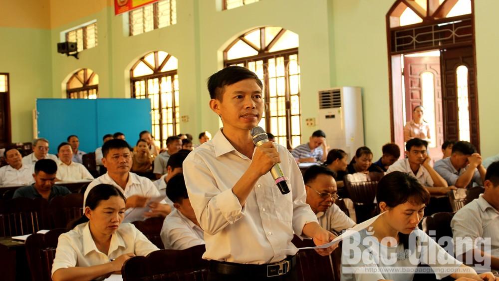 Huyện ủy Sơn Động tiếp xúc, đối thoại với tổ chức chính trị-xã hội