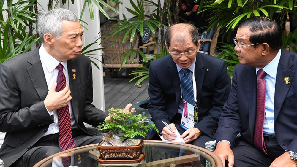 Thủ tướng Lý Hiển Long, gặp Thủ tướng Hun Sen, Việt Nam-Campuchia
