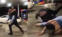 Chàng trai ngã sấp mặt vì cõng bạn gái