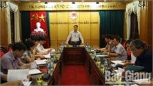 Thẩm tra một số dự thảo báo cáo, nghị quyết trình tại kỳ họp thứ 7 HĐND tỉnh