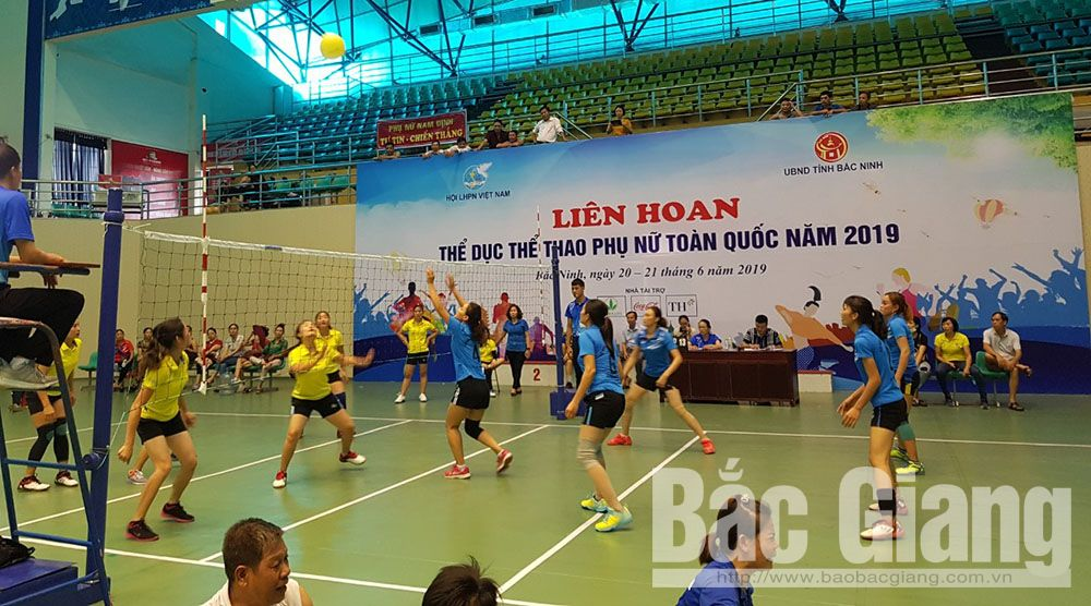 Bac Giang team, first prize, National  Women's Physical Training and Sports Festival, Bac Giang province, Women's Union, Vietnam Health Programme, Vietnam Family Day, living standards, spiritual lives