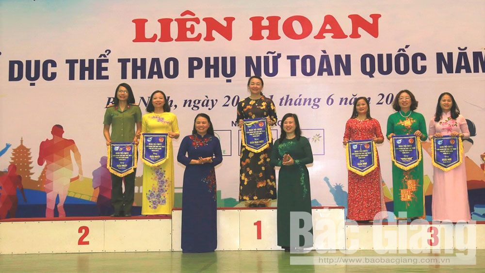 Bac Giang team win first prize at National Women's Physical Training and Sports Festival