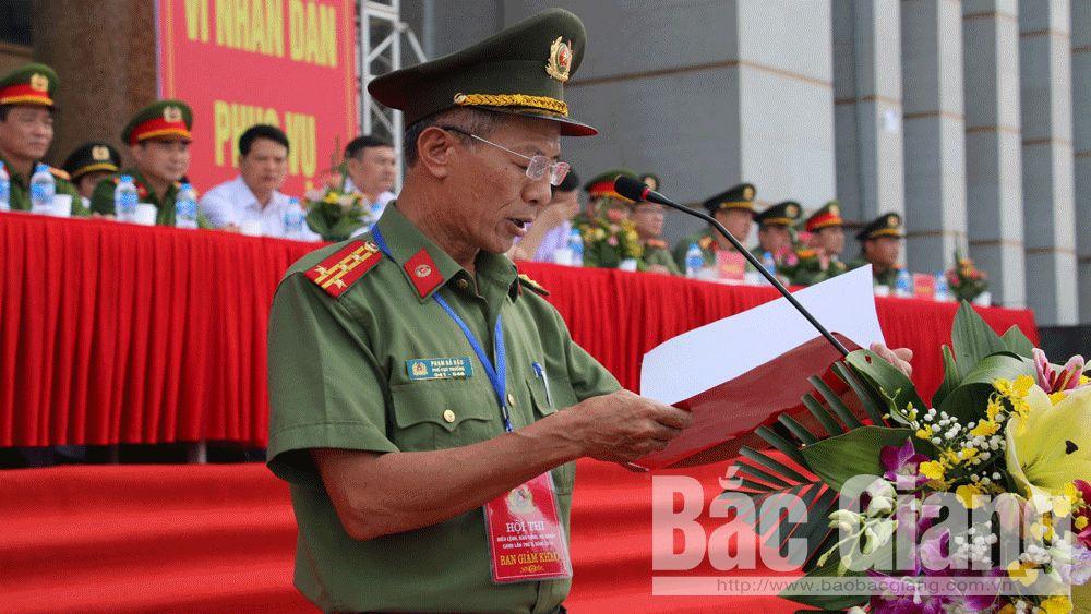 Bộ Công an, Công an tỉnh Bắc Giang, Hội thi điều lệnh, bắn súng, đội ngũ, võ thuật, Bắc Giang