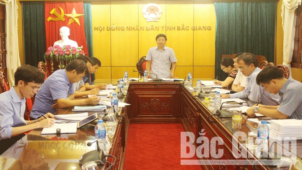 Bắc Giang, thẩm tra, dự thảo, Nghị quyết, về phát triển, hạ tầng giao thông, và, danh mục, các dự án, thu hồi đất