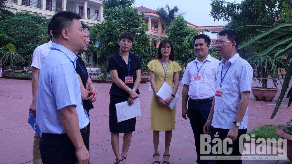 Thi quốc gia THPT quốc gia, Sở Giáo dục và Đào tạo Bắc Giang, Trường THPT Bố Hạ và THPT Yên Thế