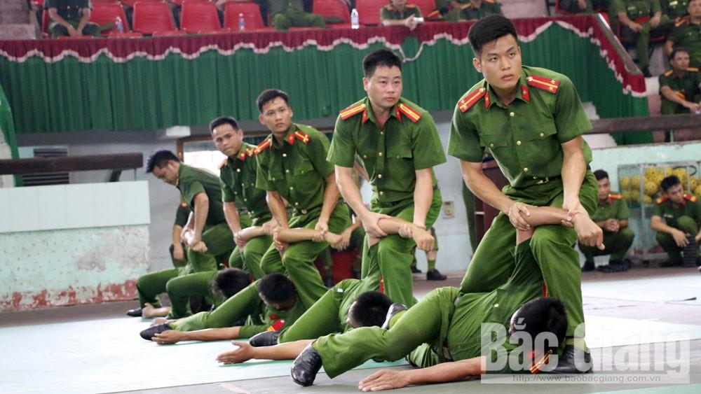 Hội thi điều lệnh, bắn súng, võ thuật CAND, Bắc Giang