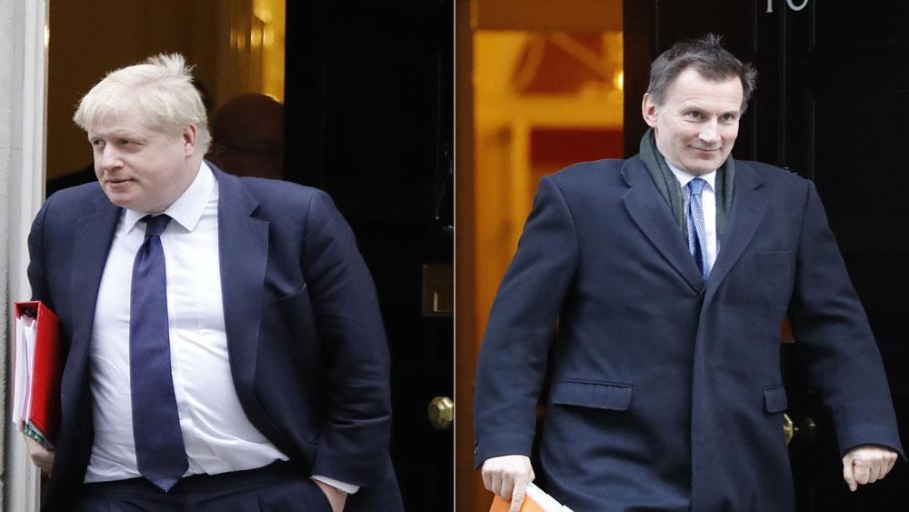 Đảng Bảo thủ, công bố danh tính, tân thủ tướng Anh, ngày 23-7, cựu Ngoại trưởng Boris Johnson, Ngoại trưởng Jeremy Hunt