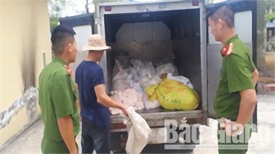 Bắc Giang: Xử phạt hành chính một người buôn bán sản phẩm từ lợn không rõ nguồn gốc