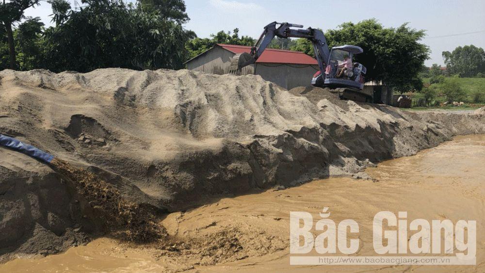 Công an huyện Yên Dũng; khai thác cát trái phép sông Cầu; Đường thủy; Yên Dũng