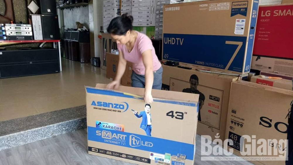 Các sản phẩm điện máy Asanzo, điện máy Asanzo, điện máy Asanzo vẫn được bán tại Bắc Giang