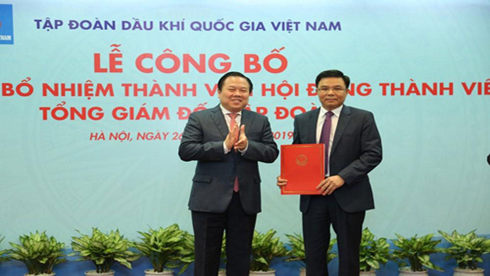 Ông Lê Mạnh Hùng, Tổng giám đốc PVN, Tập đoàn Dầu khí, Nguyễn Vũ Trường Sơn