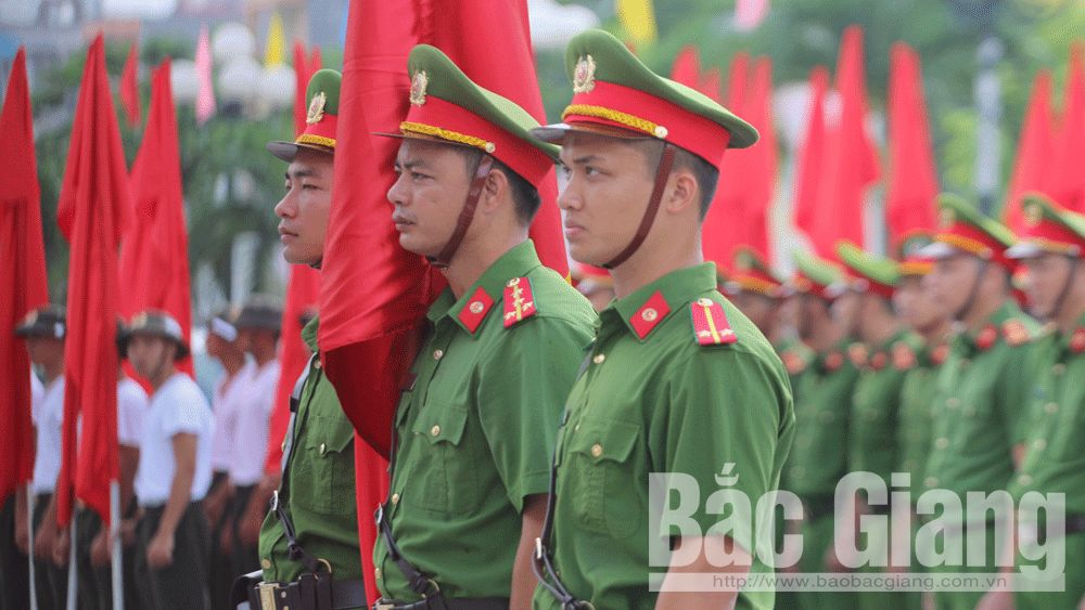 Bac Giang province, 5th competition, Public Security Forces, Regulations, Shooting, Martial Arts Competition, national security, quality and efficiency
