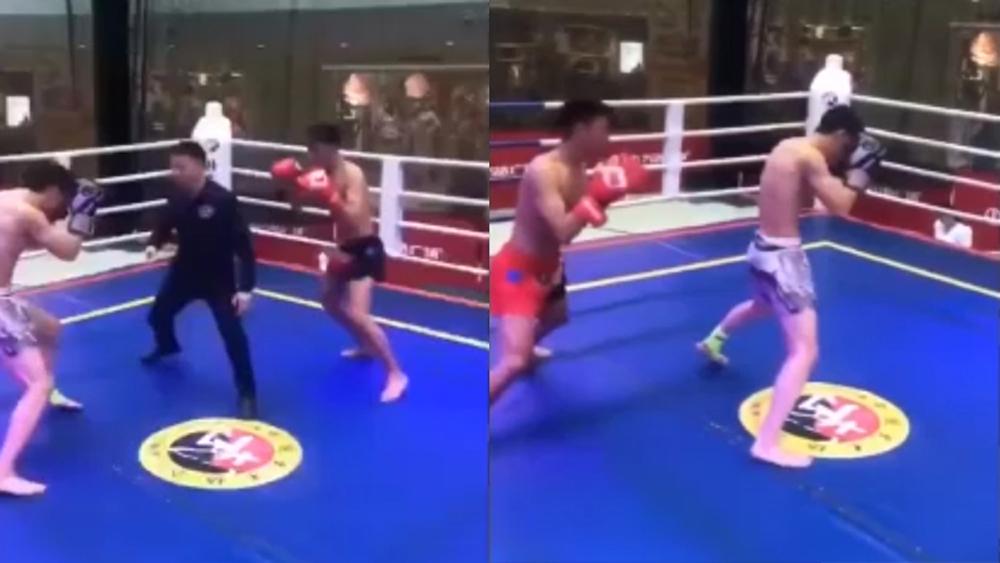 Võ sĩ bị hạ knock-out vì nhầm trọng tài là đối thủ