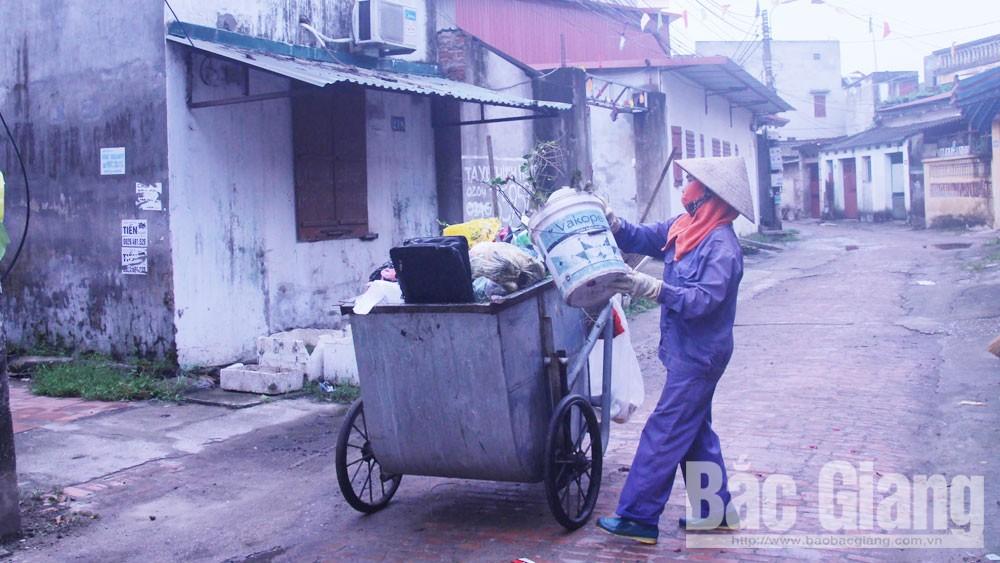Bắc Giang,  rác thải,  thu tiền, thu gom, vận chuyển, xử lý rác thải sinh hoạt