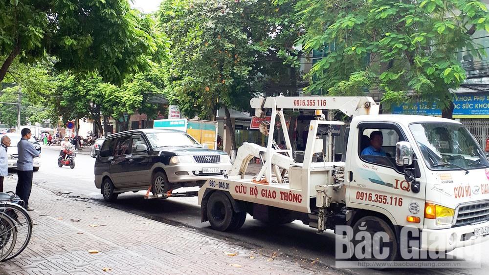 TP Bắc Giang, đỗ xe lộn xộn, ô tô, hạ tầng giao thông
