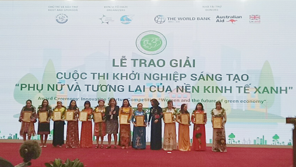 Bac Giang province, Women's Union, Da Mai ward, creative startup contest,  Women and the future of green economy