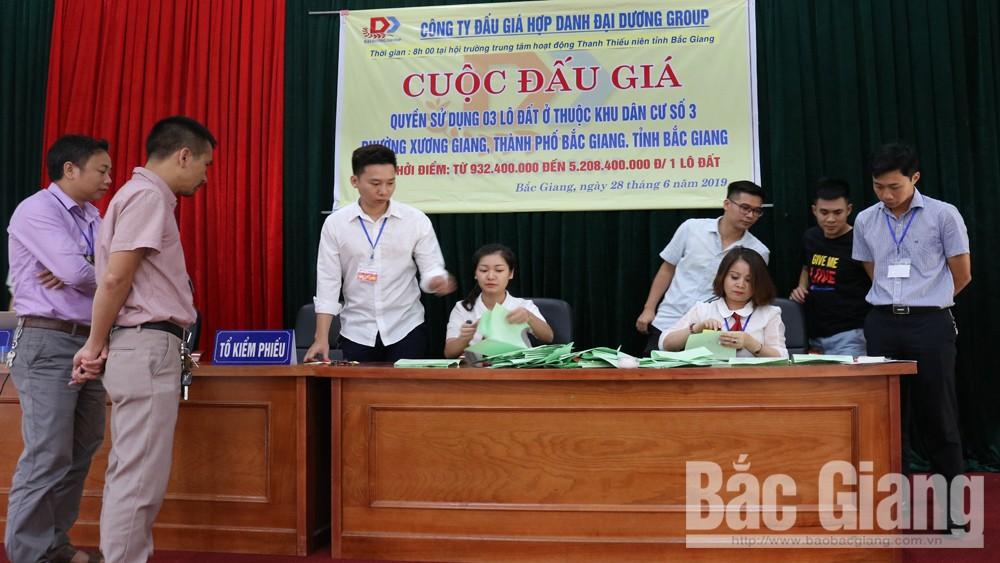 Bắc Giang: Đấu giá 3 lô đất ở trên đường Xương Giang, mức chênh chỉ đạt gần 14%