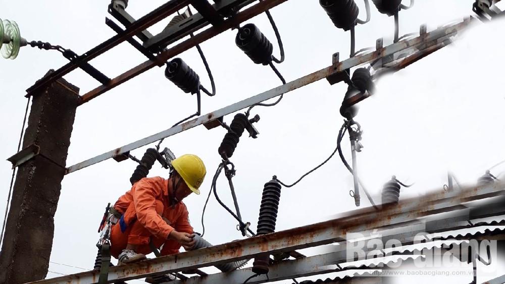 tiết giản điện, điện lực, Bắc Giang, nắng nóng, thiếu điện