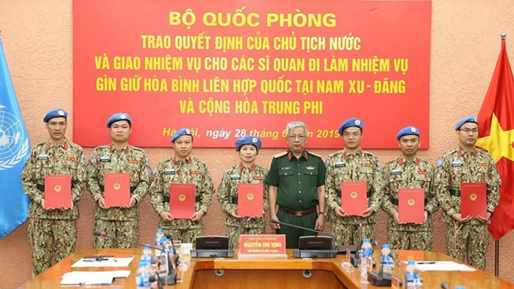 Vietnamese officers, UN peacekeeping mission, military officers, South Sudan, multinational environment, level-2 field hospital