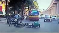Né chốt CSGT, nam thanh niên chạy ngược chiều gây tai nạn ở Hà Nội