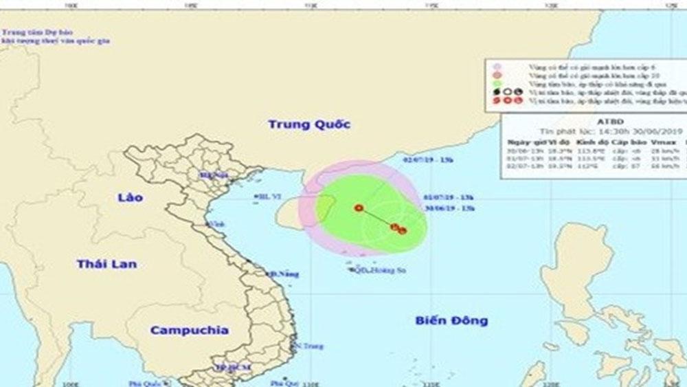 Xuất hiện, vùng áp thấp, diễn biến phức tạp, đe doạ Biển Đông