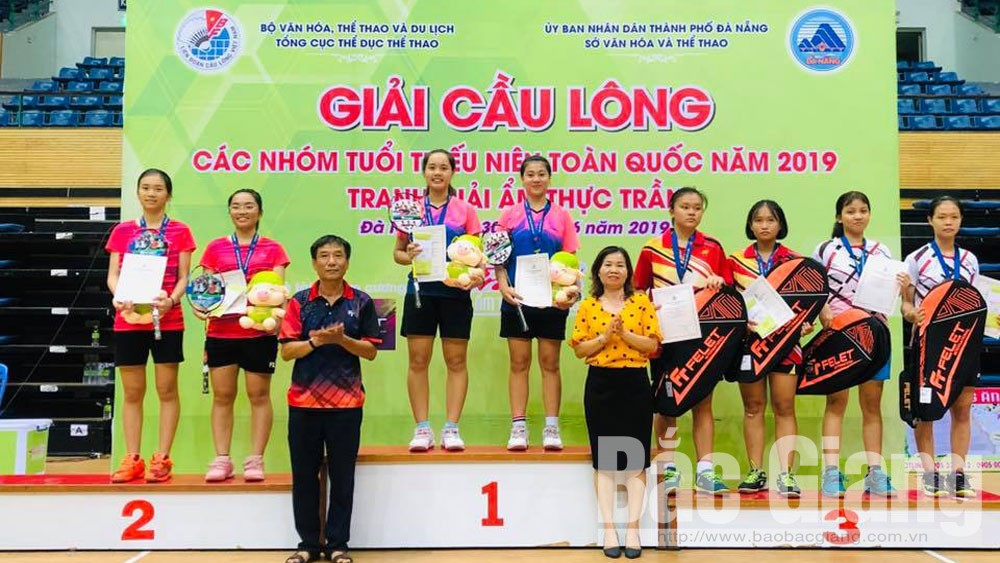 Bắc Giang, cầu lông, xếp thứ nhì, toàn quốc