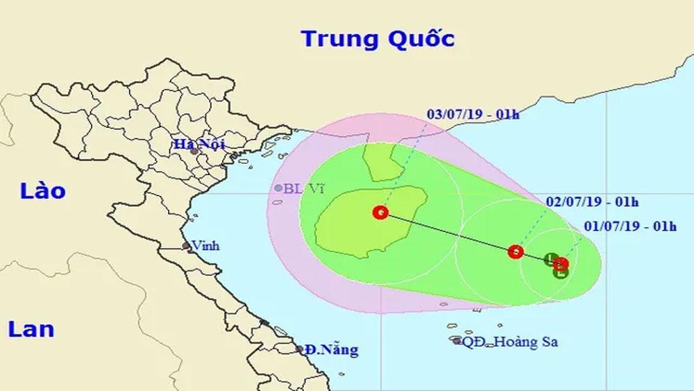 Xuất hiện, vùng áp thấp trên Biển Đông, có khả năng mạnh lên thành bão