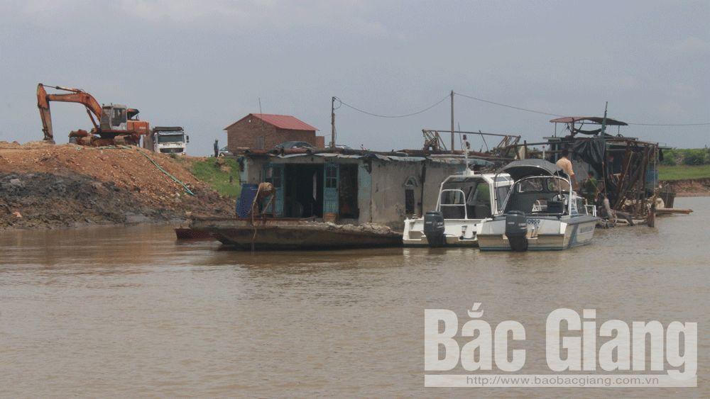 Công an tỉnh Bắc Giang, Khai thác cát trái phép; Đội cảnh sát đường thủy; Lục Nam