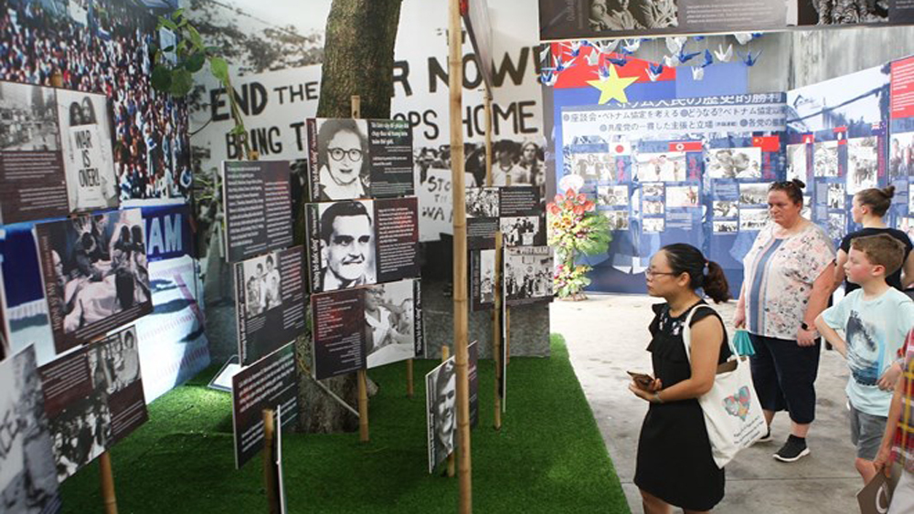 Hanoi exhibition, stories of peace, Diary of Peace, Hoa Lo Prison relic site, UNESCO, war wounds