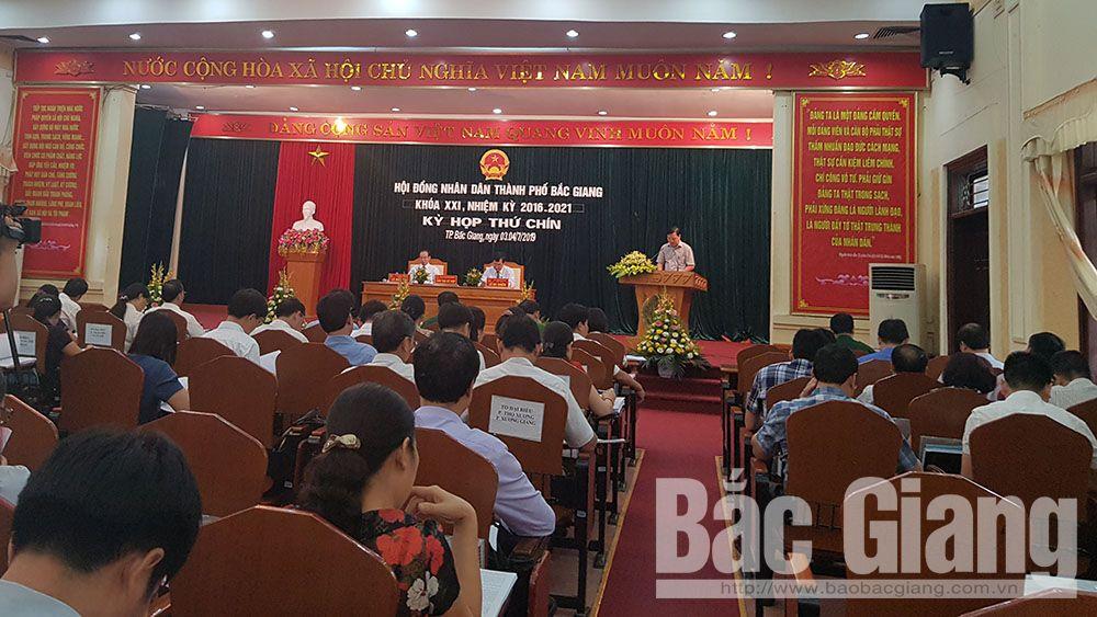 Khai mạc kỳ họp thứ 9, HĐND TP Bắc Giang khoá XXI, nhiệm kỳ 2016-202, Bắc Giang