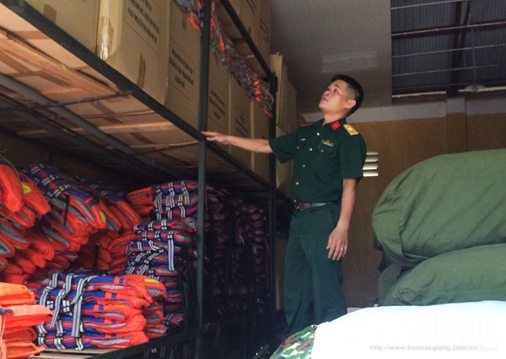Bắc Giang, bão số 2, vật tư, trực ban, đá hộc