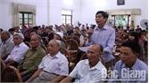 Tổng hợp kết quả giải quyết kiến nghị của cử tri tỉnh Bắc Giang