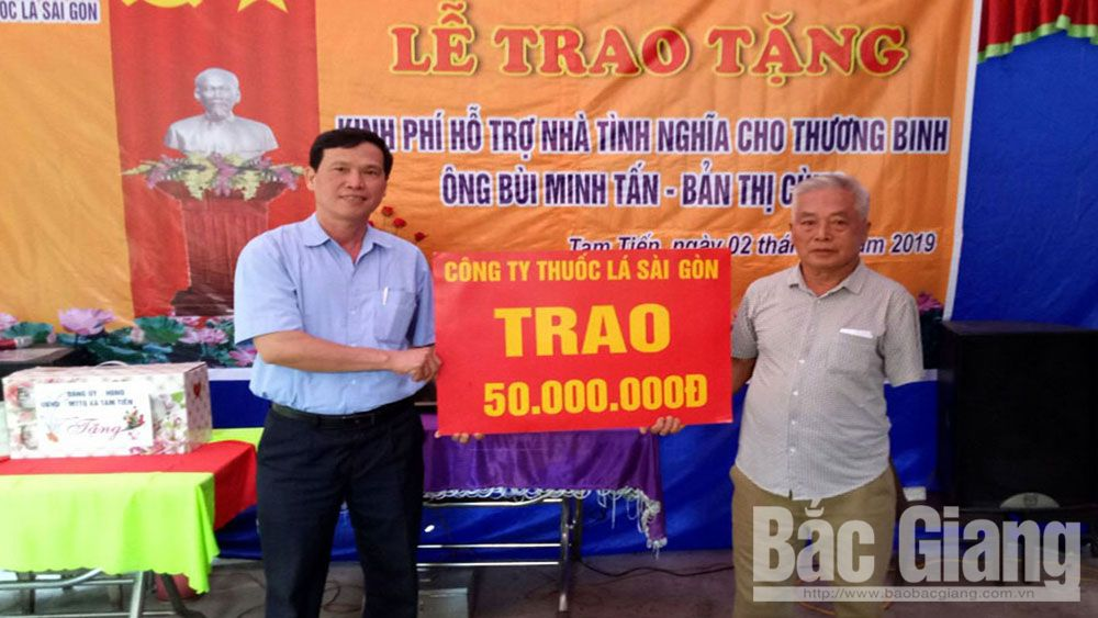 Bac Giang province, national contributors, housing improve, preferential policies, humanitarian fund, policy beneficiary families, War Invalids and Martyrs Day