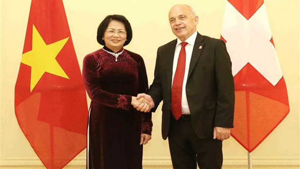 Vietnam, Switzerland, Vice President, Dang Thi Ngoc Thinh, friendship and traditional cooperation, politics-diplomacy, trade-investment, education-training, cooperation for development