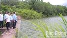 Kiểm tra hồ đập ở Lục Ngạn trước tình hình mưa bão