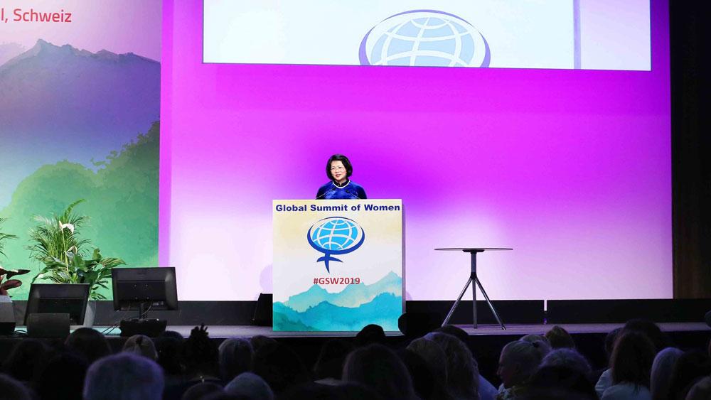 Hội nghị Thượng đỉnh Phụ nữ Toàn cầu: Phó Chủ tịch nước Đặng Thị Ngọc Thịnh, đề cao vai trò, phụ nữ, kỷ nguyên số, Cách mạng 4.0