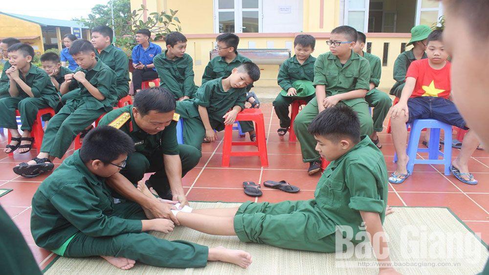 học kỳ quân đội, Bắc Giang, trải nghiệm, quân đội, thanh niên, thiếu niên, nhi đồng