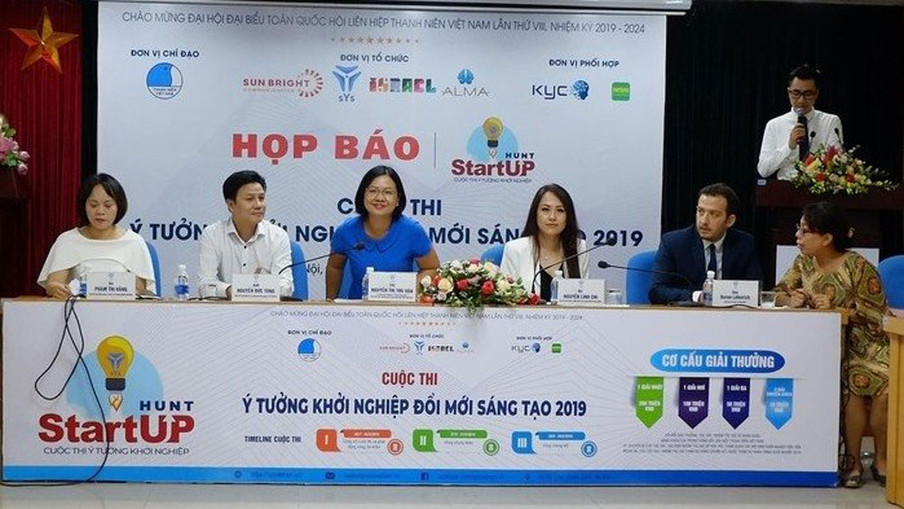 tourism startup, innovation contest, Vietnam Youth Union, Israeli Embassy in Vietnam, Startup Hunt contest,   most excellent initiatives