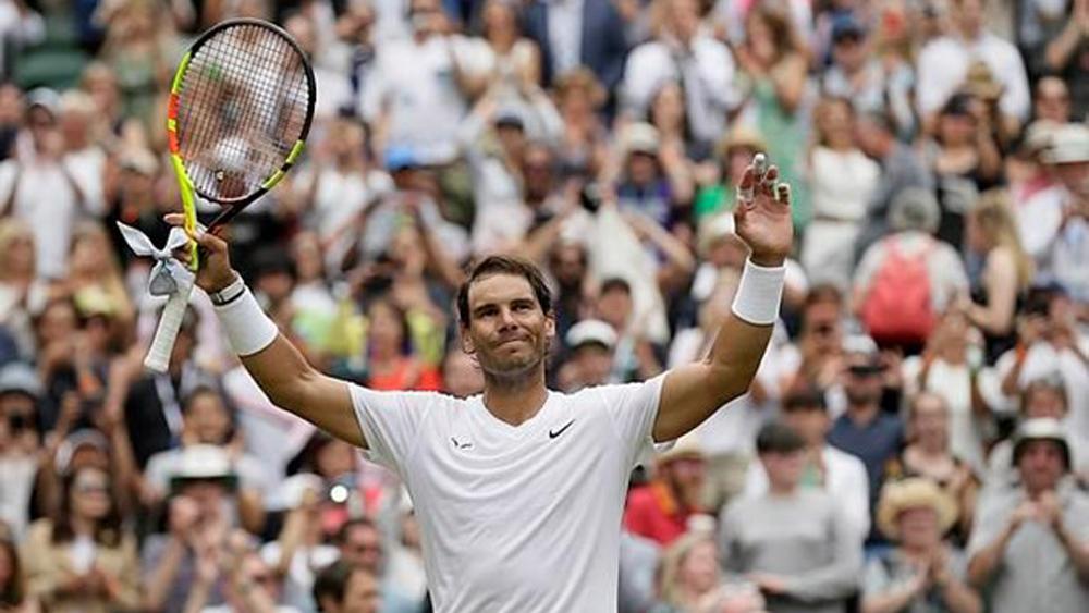 Tàu tốc hành, Roger Federer, thiết lập kỷ lục, Wimbledon 2019, Novak Djokovic,Rafael Nadal