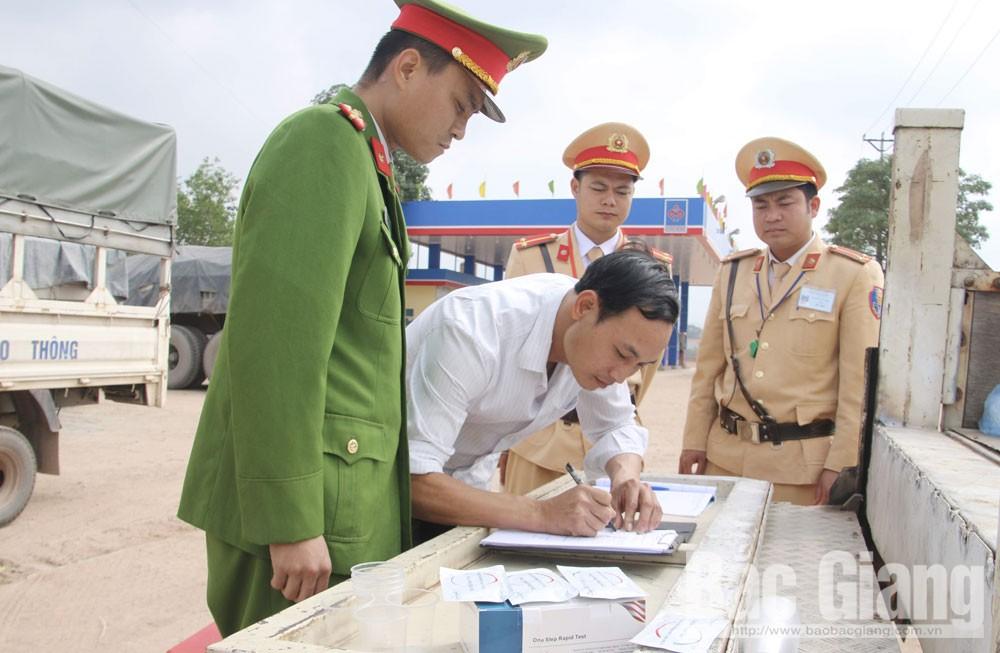 Bắc Giang, tai nạn giao thông, chất kích thích, cao điểm xử lý vi phạm đối với lái xe, tuần tra