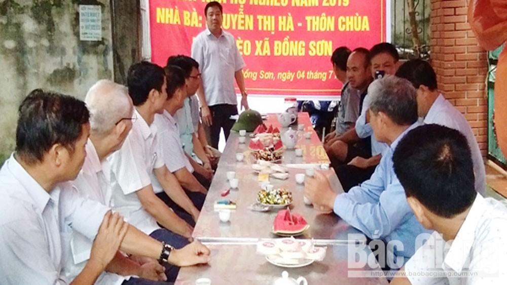 Xã Đồng Sơn, khởi công, xây dựng, nhà ở mới, cho hộ nghèo
