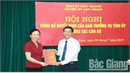 Đồng chí Nguyễn Việt Oanh được bổ nhiệm làm Bí thư Huyện ủy Lục Ngạn