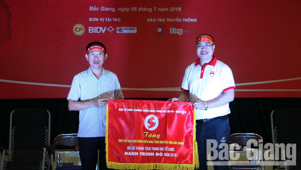 Blood units, Red drop of love, Blood Donation Day, Bac Giang province, voluntary blood donation, Trans-Vietnam Red Journey